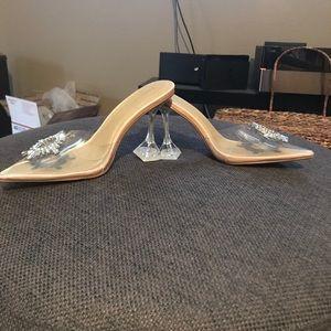 Insane shoes slides mules heels plastic lucite 8.5